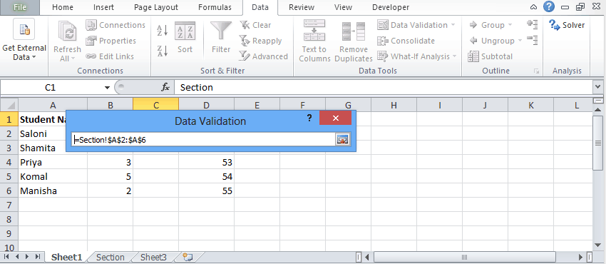 Data validation 5