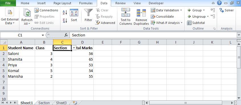 Data validation 7