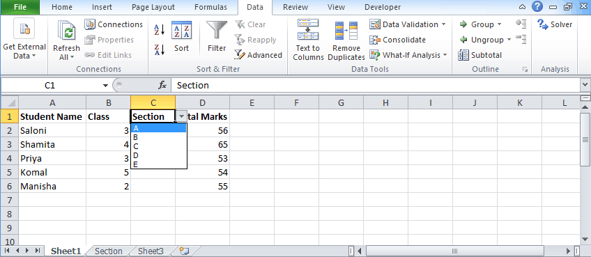 Data validation 8