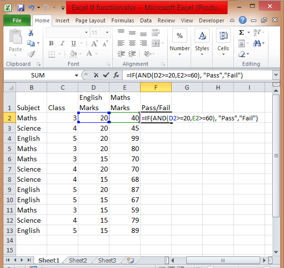 Excel if statement multiple condition range