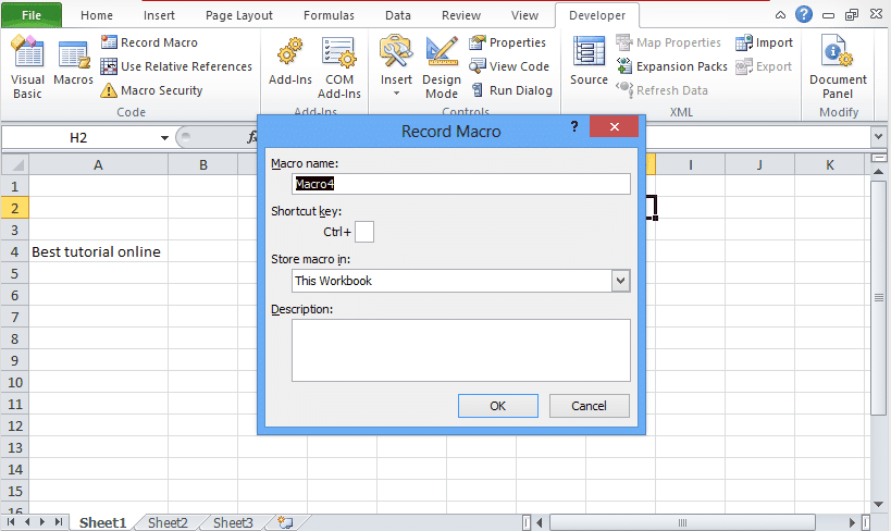 Excel Macros Tutorial for Analyst fresher [Learn Excel VBA