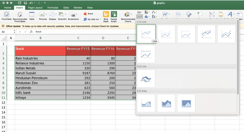 excel chart 3