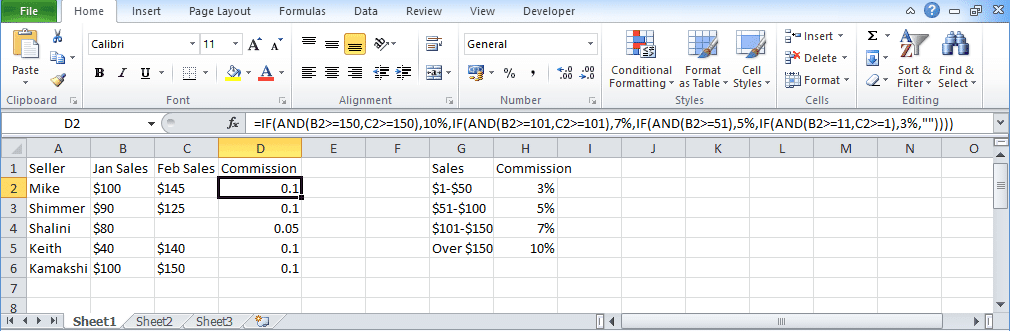 Excel If