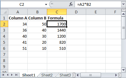Multiply in Excel