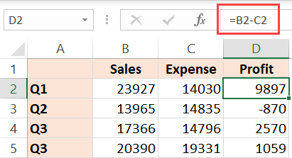 Formula that needs to be removed